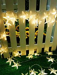 rei estrela do mar férias ro 40led bateria luz ao ar livre luz impermeável string (kl0023-rgb, branco, branco quente)