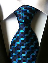 New  Blue waves Classic Formal Men's Tie Necktie Wedding Party Gift TIE0123