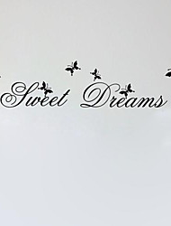 Sweet Dream salon citations de décoration stickers muraux bricolage zooyoo2002 amovibles muraux PVC autocollants de décoration