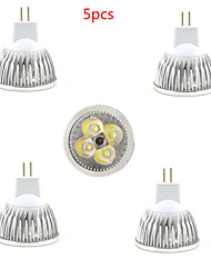 5pcs 4W MR16 450LM Warm/Cool White Color Light LED Spot Lights(12V)
