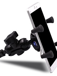 Motorcycle Holder Stand Mount Bracket with USB Charger Socket For Mobile Phone