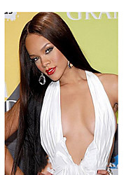 Fashion Top Quality Black Color Synthetic Long Straight Synthetic Wigs