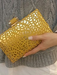 2016 Women Fashion Evening Party Bags Clutches in Yellow
