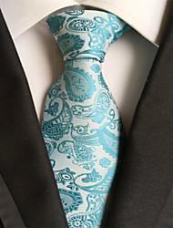 Gravata ( Azul Claro , Poliéster ) Estampado
