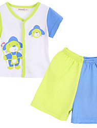 Boy Cotton Clothing Set , Summer Short Sleeve
