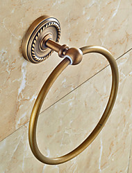 Brown Towel Ring , Antique Copper Wall Mounted