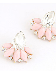 Earring Stud Earrings Jewelry Women Alloy 2pcs Beige / Pink
