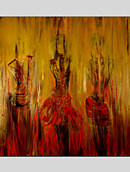 Modern Figure Style Canvas Material Oil Paintings with Stretched Frame Ready To Hang SIZE:70*70CM.