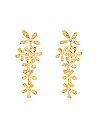 Original Design Bridal Brinco Wedding Accessories Bling Crystal Gold Plated Wedding Earring Drop Long Earrings for Women