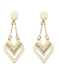 Earring Drop Earrings Jewelry Women Wedding / Party / Daily / Casual / Sports Alloy / Rhinestone / Enamel 2pcs Gold