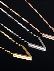 V Ms 18K Gold Titanium Steel Necklaces