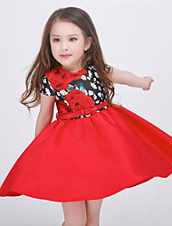 Girl's Multi-color Dress,Floral Rayon Summer / Spring / Fall