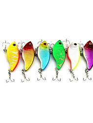 """6pcs pcs Vibration Zufällige Farben 9.1g g/1/3 Unze,55 mm/2-1/4"""" Zoll,Fester KunststoffSeefischerei / Fischen im Süßwasser / Spinnfischen"""
