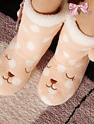 Women's Winter Fashion Boots Fabric Casual Flat Heel Pink / Gray