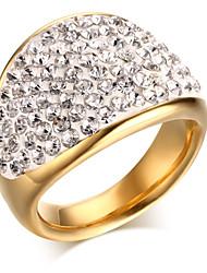 ms pleine foret anneau en acier de titane 18 k or