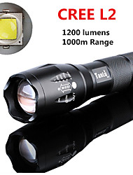 Cree L2 Led Flashlight 1200 Lumens Zoomable Penlight 1000m Range 5 Modes Torch 18650 Battery/Charger Linterna//lanterna
