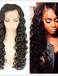 "10""-26"" Human Hair Lace Wigs For Black Women Brazilian Hair Wig Deep Curly Lace Front Glueless Full Lace Wigs"