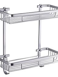 """Prateleira de Banheiro Alumínio De Parede 370 x 313 x 140mm (14.6 x 12.3 x 5.5"""") Aluminio Contemporâneo"""