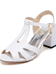 Women's Shoes Chunky Heel Open Toe Sandals Dress Black / White