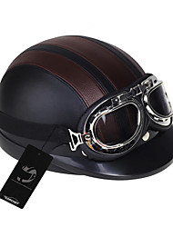 Negro / Marrón - Unisex - Casco