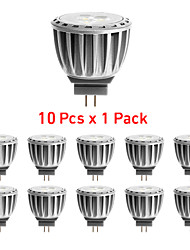 4W G4 Focos LED MR11 4 SMD 2835 300 lm Blanco Cálido Decorativa DC 12 / AC 12 V 10 piezas