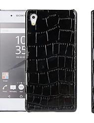 Pour Coque Sony / Xperia Z5 Relief Coque Coque Arrière Coque Couleur Pleine Dur Cuir PU pour Sony Sony Xperia Z5