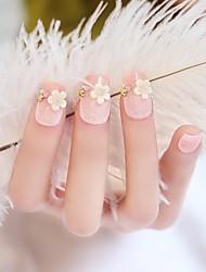 24pcs pink glitter conseils poudre de clou de France