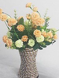 Silk / Plastic Chrysanthemum Artificial Flowers with Vase