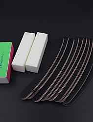 13pcs / set poncer fichiers art bloc tampon à ongles outils salon de manucure pédicure gel uv set kits