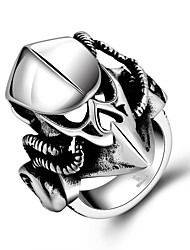 Men's Predator Skull Mask Ring Men Punk Biker Silver Plated Jewelry High Quality 316L Stainless Steel Jewelry Gift