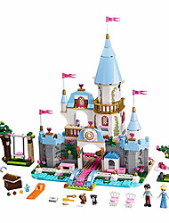 Building Block Cinderella Romantic Castle Princess Friend Blocks Minifigure Bricks Girl Sets Kids Toy