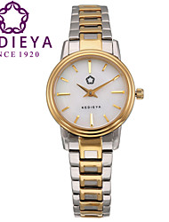 KEDIEYA SIlver Gold 316L Stainless Steel 50M Waterproof White Quartz Watch Ladies Womens Dress Watches Cool Watches Unique Watches
