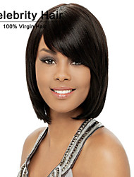 Europe and the United States Short Straight Hair Fashion Lady Black Chemical Fiber False Head Synthetic Wigs