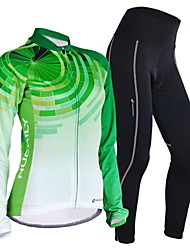 Nuckily Cycling Jersey with Tights Women's Long Sleeves Bike Jersey Clothing Suits Quick Dry Windproof Anatomic Design Moisture