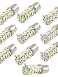 10 шт автомобиля 1156 BA15s 1206 68-SMD светодиодные задние резервного тормоза белого лампочки