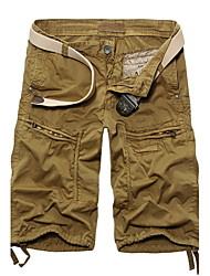 Men's leisure and sports cargo shorts