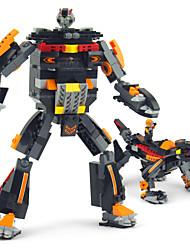 bricolaje juguetes modelo de robot edificio 2 en 1 juguetes de inteligencia Figuras miniatura bloques de construcción