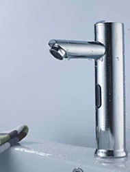 Contemporain Set de centre Tactile/non tactile with  Soupape céramique Mains libres un trou for  Chrome , Robinet lavabo