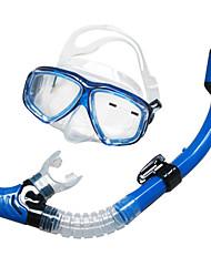 Дайвинг Маски / Подводное плавание Пакеты / Трубки Два окна Унисекс / Взрослый силиконовый / стекло Подводное плавание и снорклингСиний /