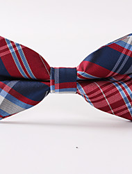 Red Grid Stripe Bow Tie