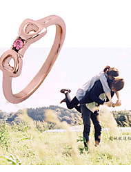 HUALUO®Woman fashion rose gold ring filler alloy ring fashion jewelry 2016 female