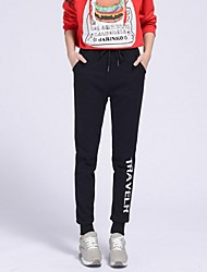 De las mujeres Pantalones Deportivo-Casual Rígido-Algodón