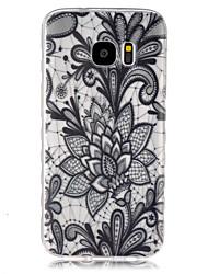 Für Samsung Galaxy Hülle Transparent Hülle Rückseitenabdeckung Hülle Blume TPU SamsungS7 / S6 edge / S6 / S5 Mini / S5 / S4 Mini / S4 /