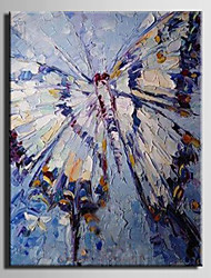 Oil Painting Decoration Abstract Butterfly Hand Painted Canvas with Stretched Framed