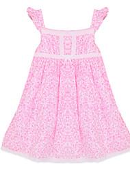 Robe Fille de Coton Eté Rose