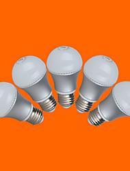7W E26/E27 Ampoules Globe LED G60 12 SMD 3528 500 lm Blanc Chaud Blanc Froid Décorative AC 100-240 V 5 pièces