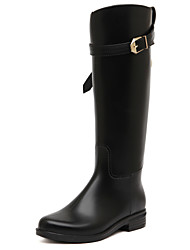 Women's Shoes Rubber Chunky Heel Rain Boots Boots Casual Black