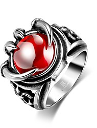 Ring Ruby AAA Cubic Zirconia Gemstone Steel Red Jewelry Wedding Party Halloween Daily Casual 1pc