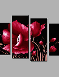4 piece/set Flower Quality Oil Painting Wall Art 100% Handmade Oil Painting Wall Art Gift with frame ready to hang