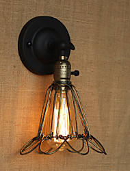 American Industrial-Style Fence Iron Mesh Bronze Decorative Wall Sconce